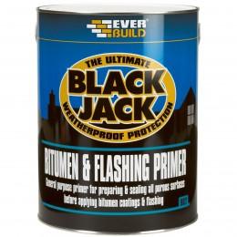 Everbuild Black Jack 902 Bitumen Flashing Primer Black 5 Litre 90205