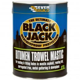 Everbuild Black Jack 903 Bitumen Trowel Mastic Black 5 Litre 90305
