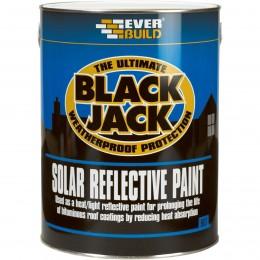 Everbuild Black Jack 907 Solar Reflective Paint Silver 5 Litre 90705