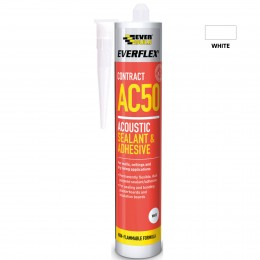 Everbuild Everflex AC50 Sealant and Adhesive White 380 ml AC50C4