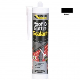 Everbuild Everflex Roof and Gutter Sealant Black 295 ml ROOF