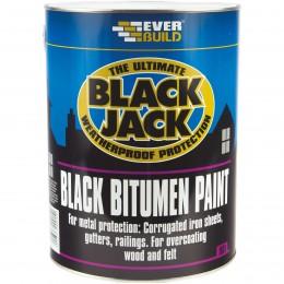 Everbuild Black Jack 901 Bitumen Paint Black 1 Litre 90101