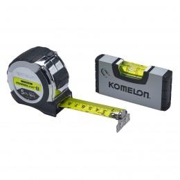 Komelon 5m (16ft) Tape with Mini-Level XMS19TAPELEV