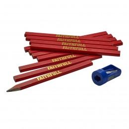 Faithfull 12 Medium Carpenter's Pencils XMS19MPENCIL