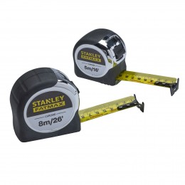 Stanley Fatmax Chrome Tape Twin Pack XMS19CTTWIN
