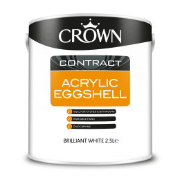 Crown Contract Acrylic Eggshell B/White 2.5L 5093040
