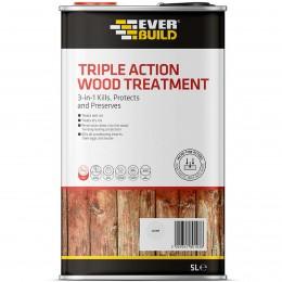 Everbuild Triple Action Wood Treatment Clear 5 Litre LJUN05