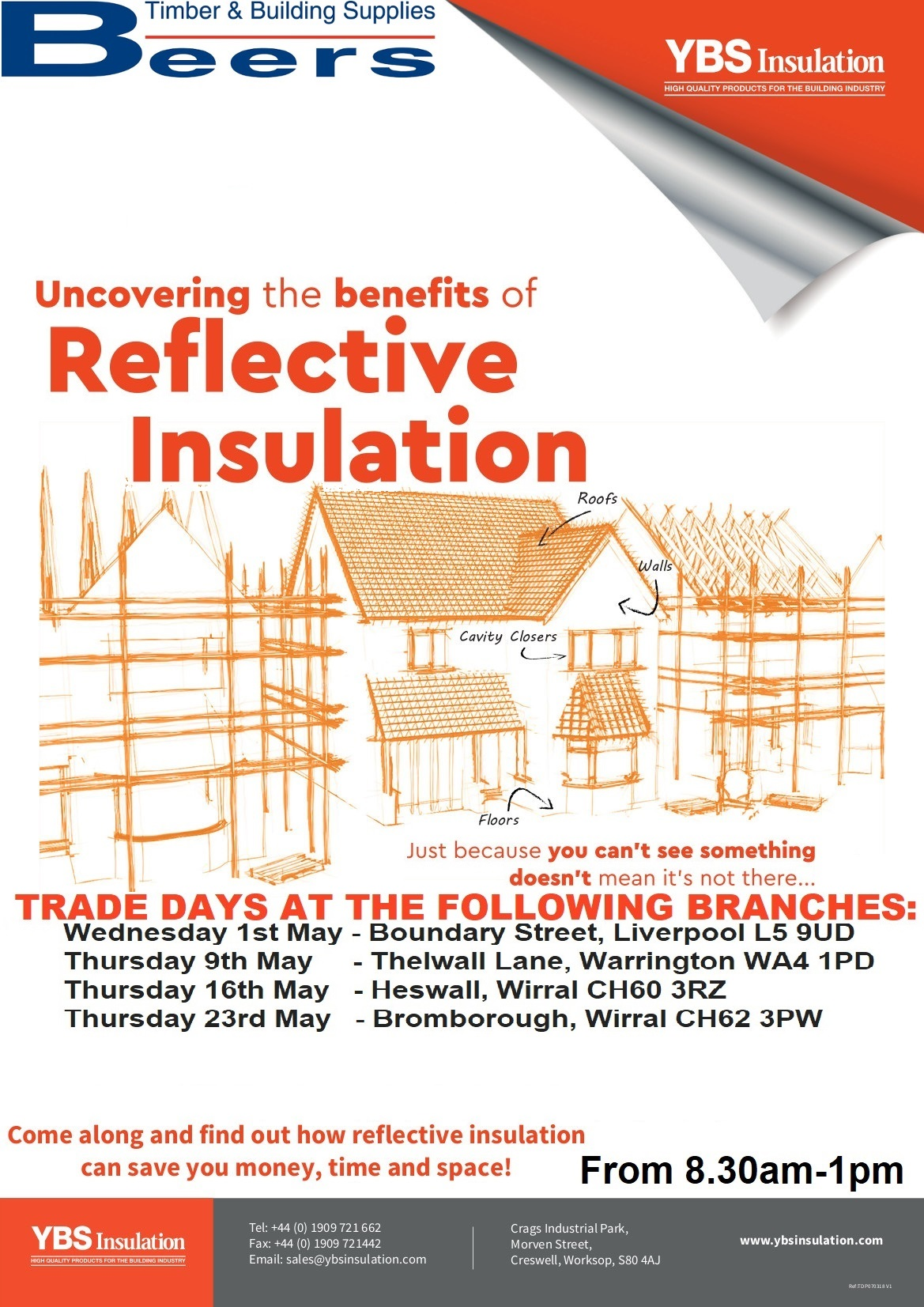 YBS Insulation Trade Mornings are coming to Beers throughout May